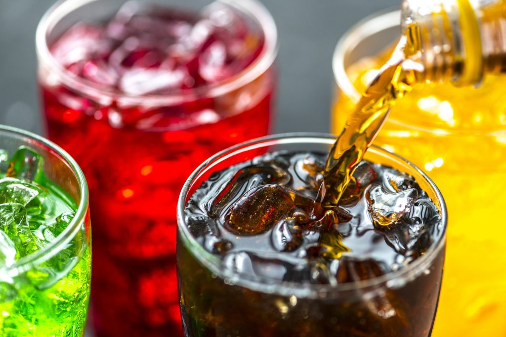 Soda and colors