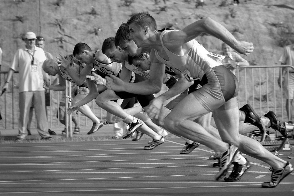 Men Sprinting